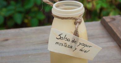 Salsa de Yogur Mostaza y Miel. Por Diana Cabrera