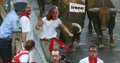 Crónica del segundo encierro podemita y claro está ¡Viva San Fermín!. Por Tano