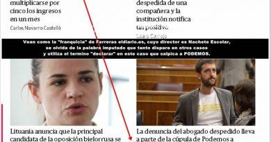Escolar se olvida de la palabra imputado que tanto dispara en otros casos. Por Rafael Gómez de Marcos