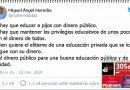 El ofensivo mensaje de un senador socialista contra los niños de la concertada. Por Rafael Gómez de Marcos