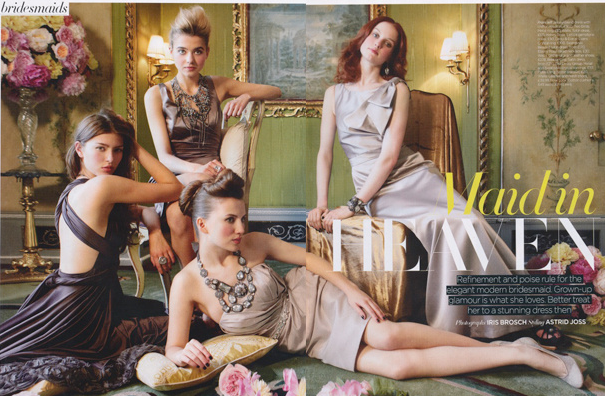Brides Magazine - Photography by Iris Brosch / Make-up by Carol Morley