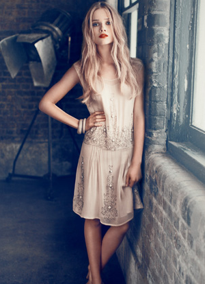 Florrie for Hoss Intropia - make-up by Ginni Bogado