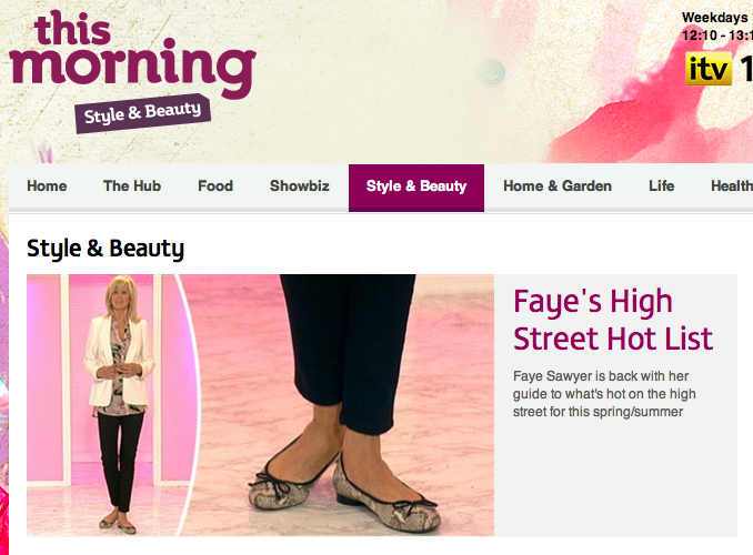 Faye Sawyers High Street Hot List on This Morning