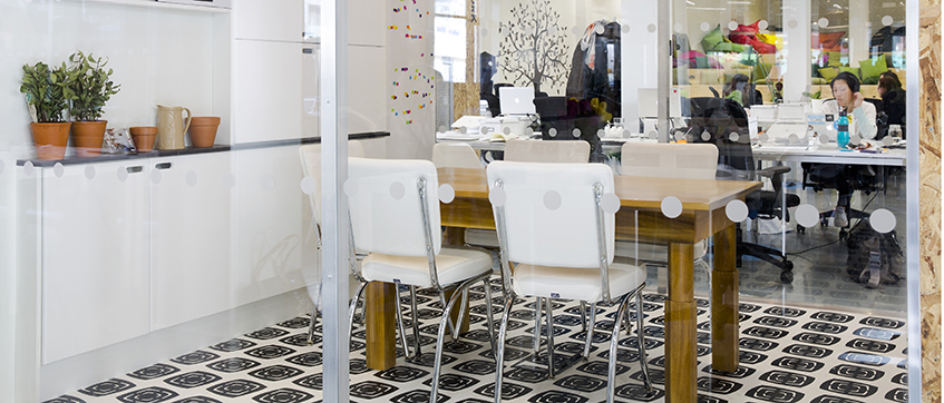 One of the meeting rooms at Airbnb's Dublin office
