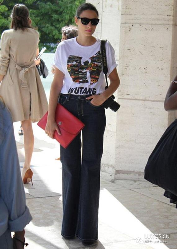 ClioMakeUp-modi-indossare-tshirt-stile-pantaloni-palazzo