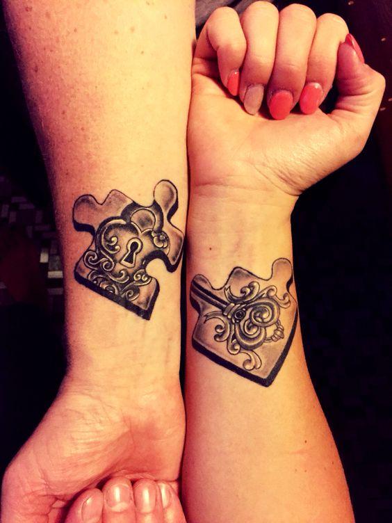 Favoloso Tatuaggi di coppia per innamorati, amiche e sorelle HS75
