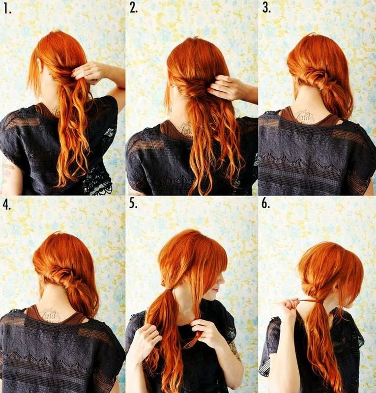 Acconciature facili fai da te capelli medi