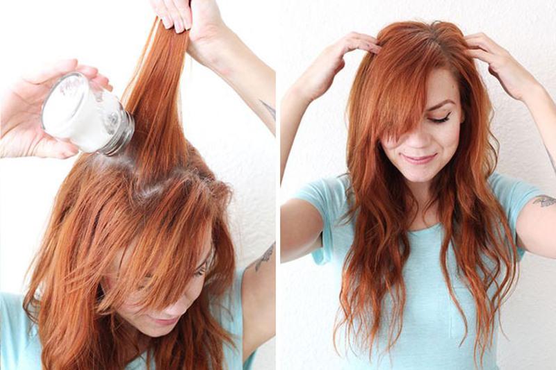 Risultati immagini per usare shampoo secco