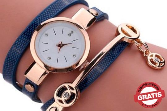 Luce este moderno reloj en tu muñeca con Swarovski Elements y disco resistente a los arañazos metalizado ¡El regalo perfecto!