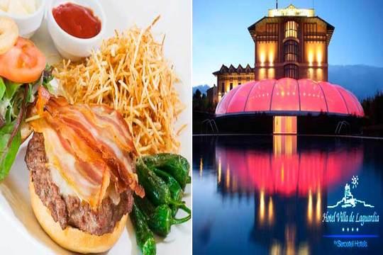 Spa + Burger de Wagyu con opción a masaje (Villa de Laguardia 4*)