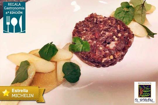 Menú de vanguardia en el Restaurante El Serbal, Estrella Michelin