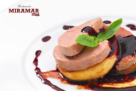 Degusta un exquisito menú con platos de calidad en el restaurante Miramar de Artxanda