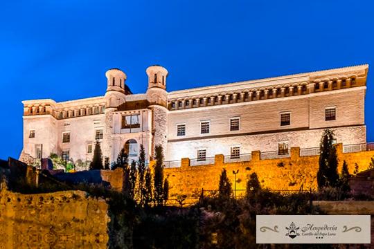Elige entre 1, 2 o 3 noches en habitación superior con desayuno en el Castillo de Papa Luna de Illueca, en Zaragoza