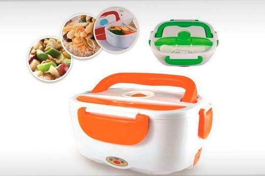 Tartera Fiambrera eléctrica Tupper en verde o naranja ¡Diseño y prestaciones para mantener tu comida siempre caliente!
