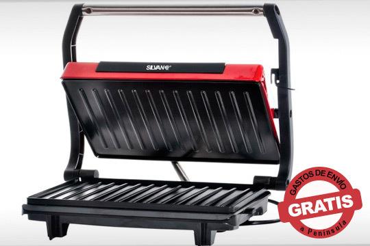 Préparate ricos desayunos y bocadillos con el grill eléctrico mini de la marca Silvano ¡Con plancha antiadherente!