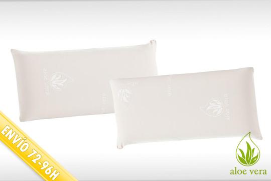almohada de lámina y copos de viscoelástica
