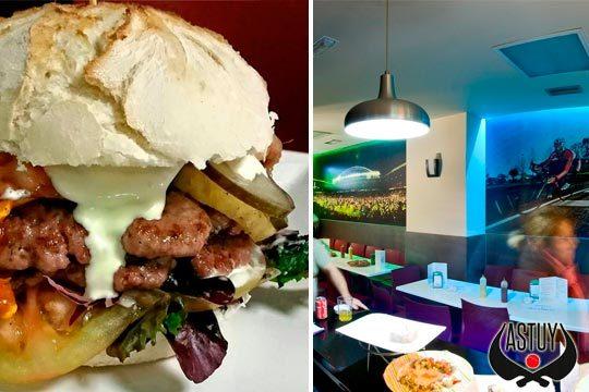 Disfruta de un completo menú de hamburguesa con entrante y bebida en Astuy Taberna de Santutxu  ¡con opción a postre!