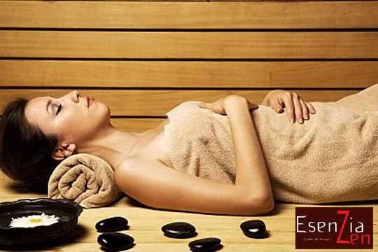 Oxigena la piel y reduce el estrés con un masaje geotermal en el centro femenino de masajes Esenzia Zen ¡En cara, cuello y escote!