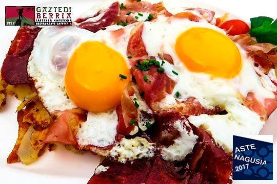 Celebra las fiestas con un desayuno o almuerzo brunch en el restaurante Gaztedi Berria de Abando