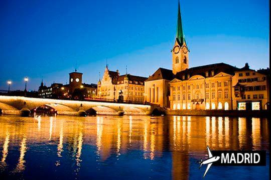 Descubre las bellezas de Zurich este otoño ¡vuelo de Madrid + 3 noches en el Hotel The Flag!