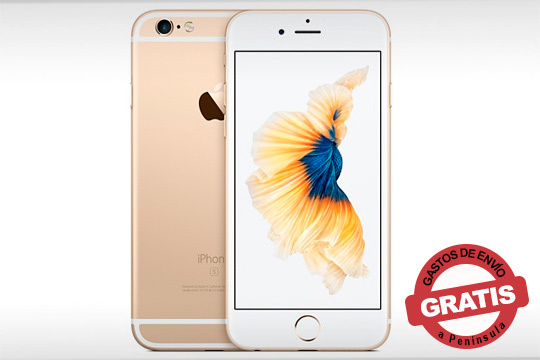 Hazte con este iPhone 6S de 64 Gg en color oro ¡Diseño, funcionalidad y calidad en tu móvil!