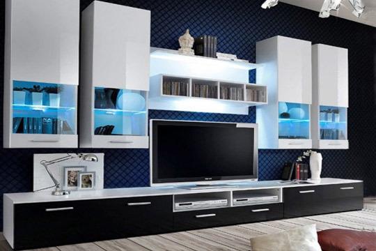 Colectivia mueble de sal n de l nea moderna y color for Muebles de salon con luz led