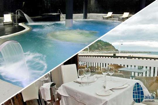 Disfruta de un escapada gastronómica y de relax en Aisia Deba ¡Menú Classic, Premium, Circuito Spa de 1h y 30 min.!