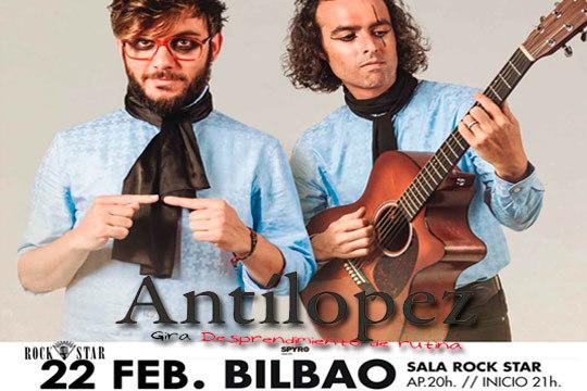 Concierto Antílopez en la sala Rock Star ¡El fenómeno que, gracias al boca a boca, ha arrasado en el país!