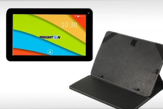 """Tablet de 7"""" Quad-core + funda negra"""