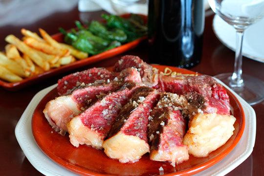 Menú de 5 platos con gambones, vieira y ventresca ¡Txuletón o bacalao!