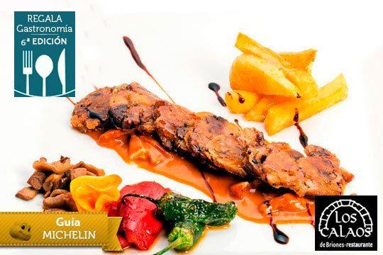 Menú gourmet en Los Calaos de Briones ¡Guía Michelin!