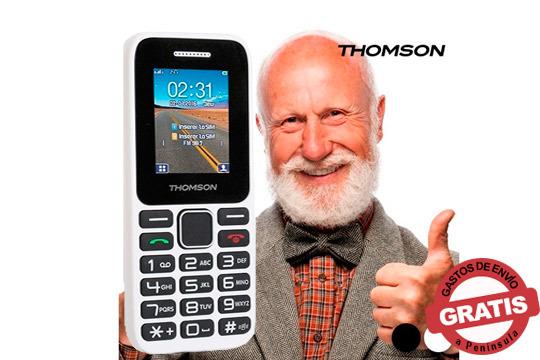 Olvida las complicaciones con el teléfono móvil Thomson TLINK11 perfecto para gente mayor o para aquellos que prefieren un móvil sencillo ¡El regalo perfecto para estas navidades!