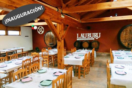 Inauguración: Menú de sidrería con kupela abierta en Lauburu (Muxika)