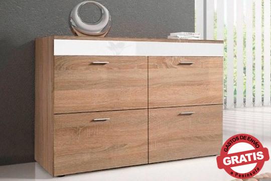 Con la cómoda Vieste tendrás espacio para ordenar y guardar tu ropa, además de un mueble moderno y original para tu dormitorio