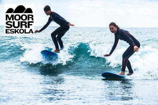 Aprende a cabalgar las olas con los cursos de surf de Moor Surf Eskola ¡Elige entre curso de 1 o 2 días!