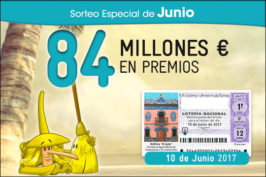 Sorteo especial Junio de la Lotería Nacional