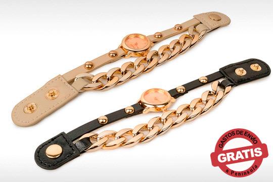 Hazte con este reloj pulsera Leather France y marcarás un estilo único ¡Con gastos de envío incluidos!