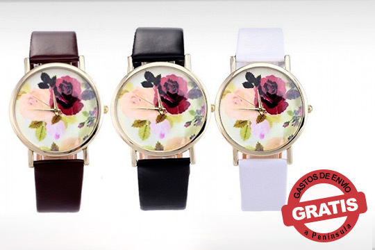 Date un toque primaveral a tu look con los relojes Shayla ¡En color negro, marrón o blanco!