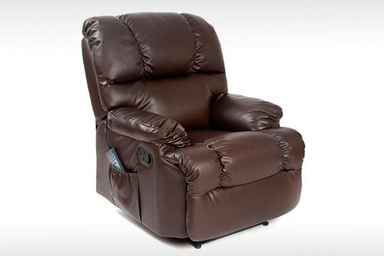 Descansa cómodamente en este sillón de masajes con 10 programas de masaje, 10 intensidades y calor lumbar ¡Disponible en 4 colores!