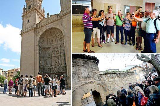 Visita por el Casco Histórico de Logroño con guía local, entrada a un calado del S. XVI y dos pinchos y vinos en la calle Laurel