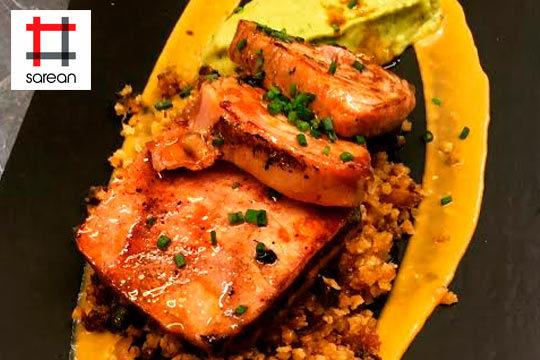 Disfruta de un exquisito menú degustación con bebida y postre en el Restaurante Sarean, en el corazón de Bilbao la Vieja