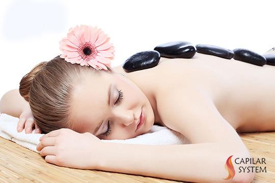 Elige entre 1 o 3 masajes relajantes de espalda y cervicales con mentol y piedras volcánicas + masaje de piernas con cañas de bambú ¡Muy efectivo contra el estrés!