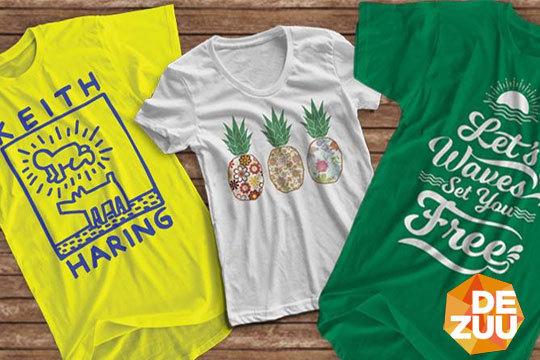 Pack de 3 o 5 camisetas en Dezuu
