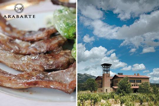 Menú con chuletillas al sarmiento + visita a bodega y cata (Rioja Alavesa)