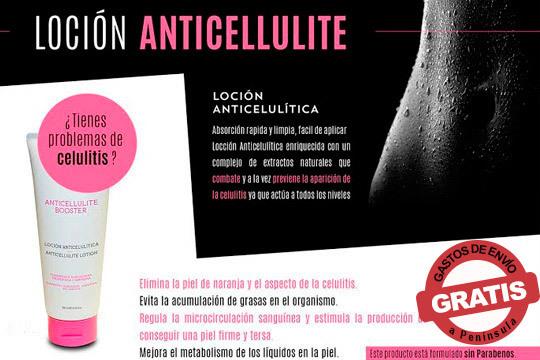 Loción Anticellulite enriquecida con una combinación de extractos naturales para combatir y prevenir la aparición de la celulitis