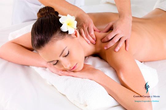 Elige el masaje de espalda que prefieras en el centro Confort Cuerpo y Mente ¡Quiromasaje o relajante!