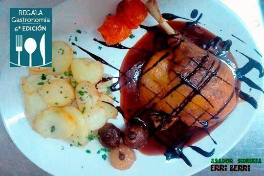 Degusta los mejores platos en el Asador Erri Berri, ¡de lunes a domingo, comidas y cenas!