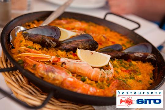 Menú en el Restaurante Sito con arroz marinero, entrantes, postre y bebida ¡Plan de cena en Suances!