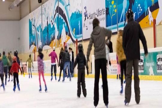 Entradas infantiles y de adulto para el Palacio de Hielo de Huarte ¡Con alquiler de patines incluidos!