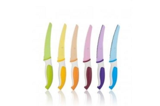 Colectivia pack de 6 cuchillos de colores para carne da for Cuchillos mesa para carne